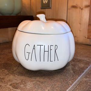 """Rae Dunn """"Gather"""" Pumpkin Canister"""